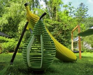 组合式雕塑水果滑梯